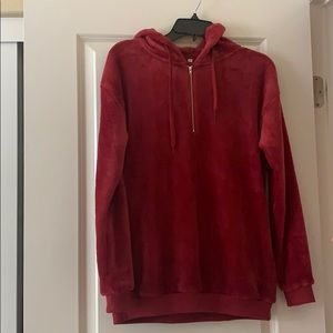 Red soft hoodie